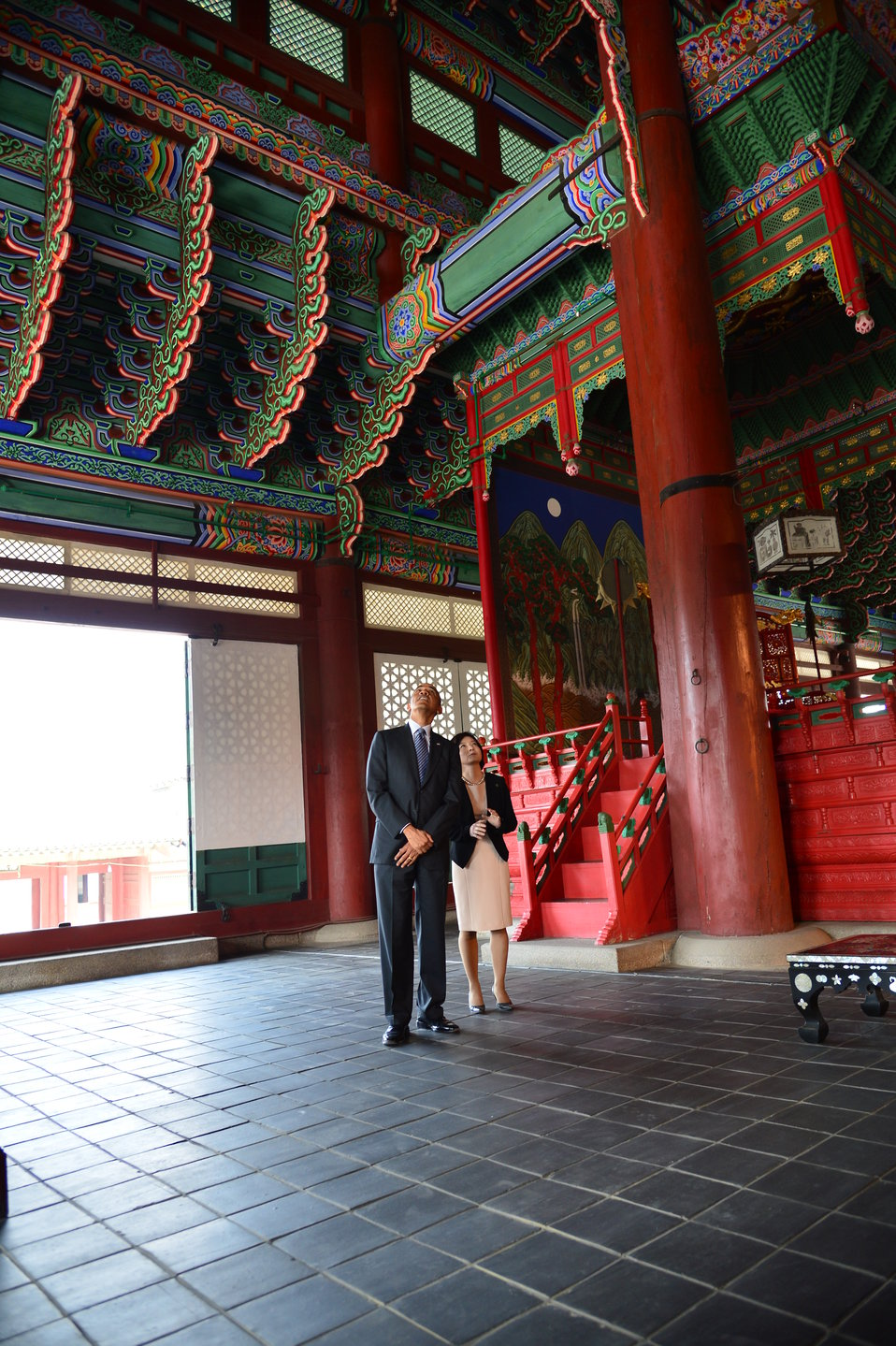 President Obama Visits Gyengbok Palace