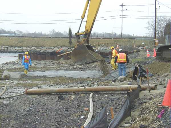 Spring 2001, Relocation of a combined sewer overflow