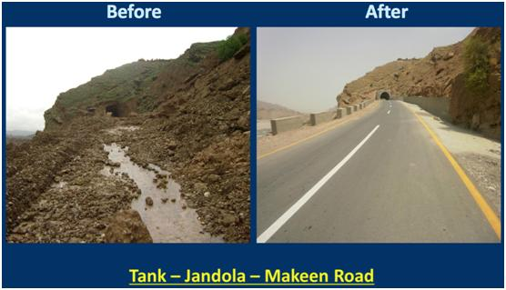 Tank- Jandola- Makeen road.