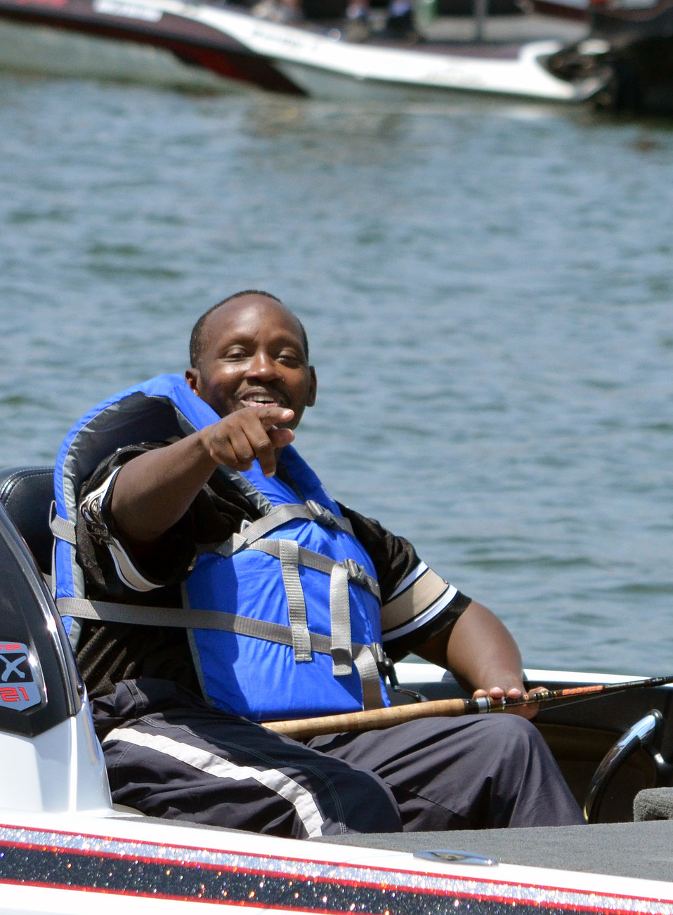 """Happy warrior (""""Take a Warrior Fishing"""" event at Success Lake)"""