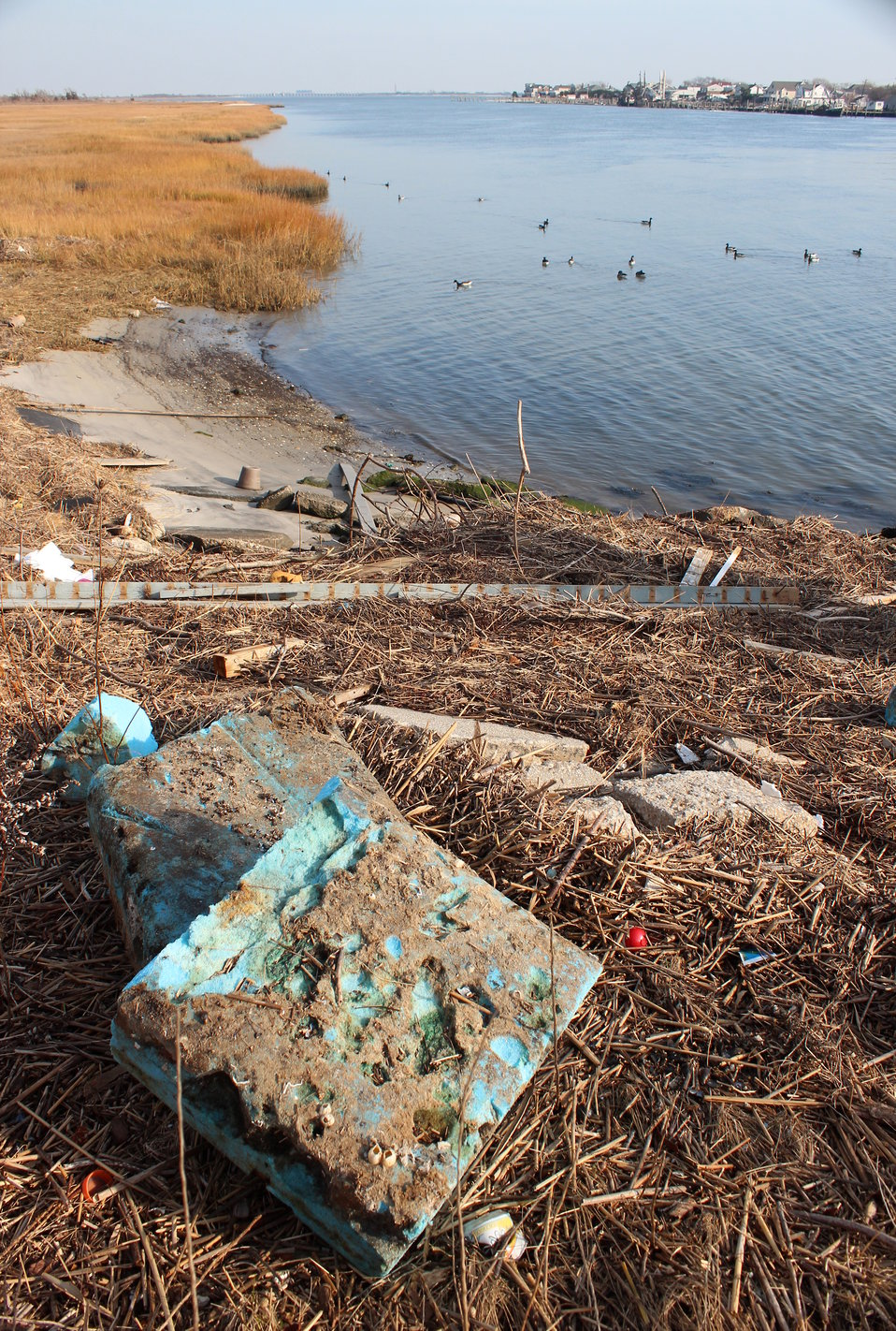 December 3, 2012 – Leftover debris from Hurricane Sandy