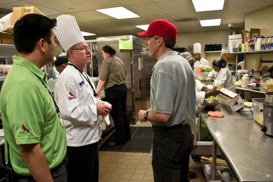 April 29, 2013 - A sneak peak inside the kitchen of the St. Louis Cardinals