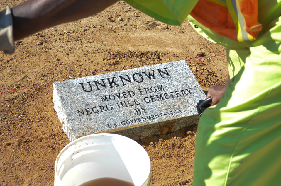 Replacing offensive grave markers at Mormon Island Relocation Cemetery