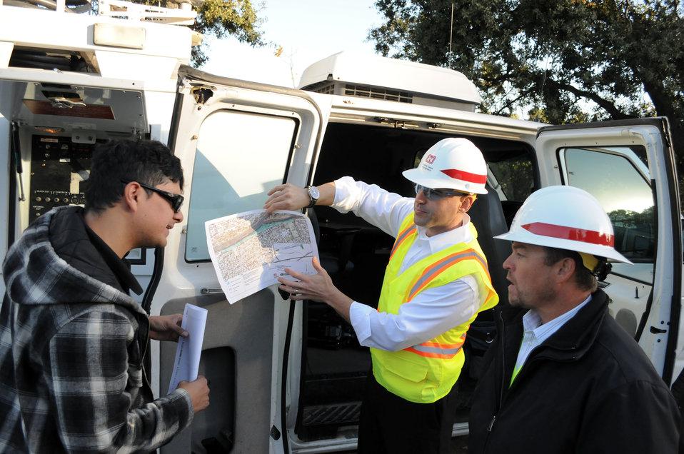 Explaining erosion repair work
