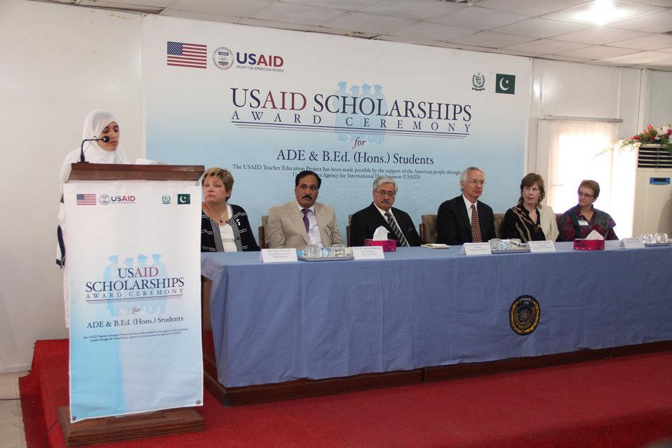 Scholarship distribution ceremony