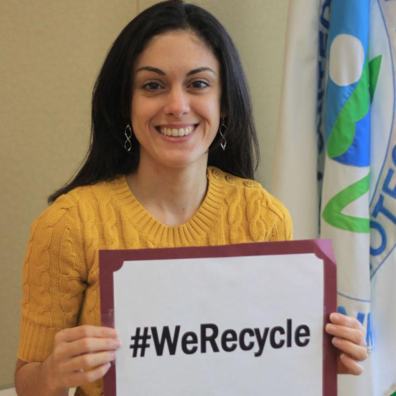 EPA Employee Lilybeth Recycles