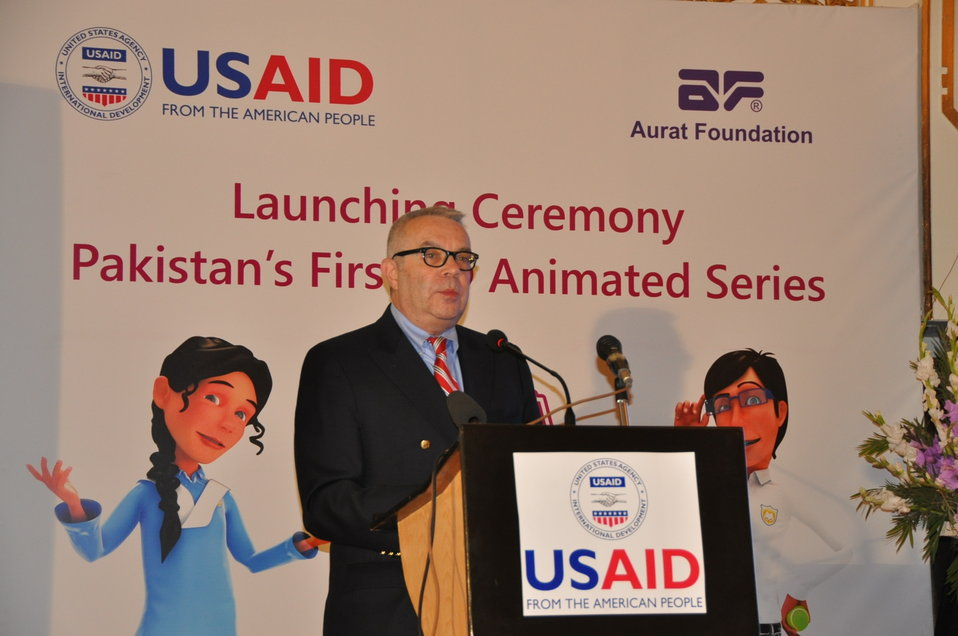 "The United States believes that investing in women and girls is one of best ways to achieve economic progress, political stability, and greater prosperity for Pakistani women – and men,"" said U.S. Deputy Chief of Mission Ambassador Richard Hoagland sp"