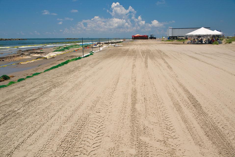June 1, Lafourche Beach cleanup site
