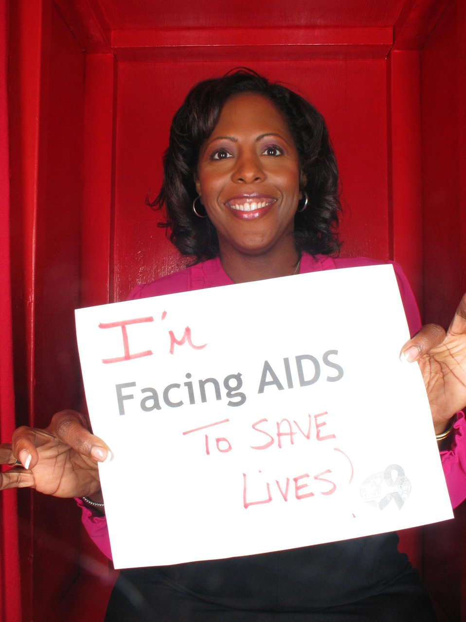 I'm Facing AIDS to save lives.