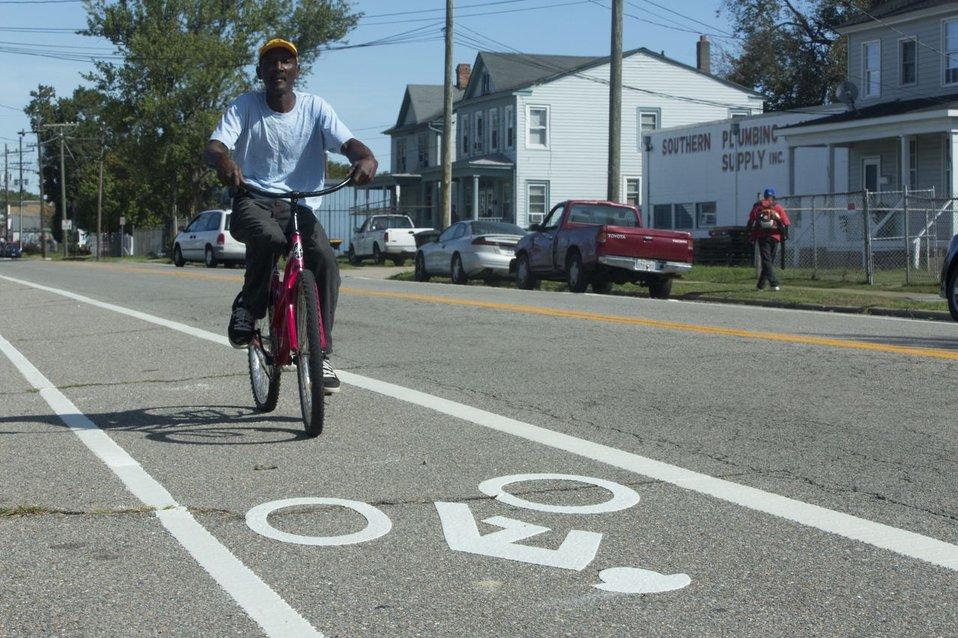 Bike Rider in Portsmouth Virginia