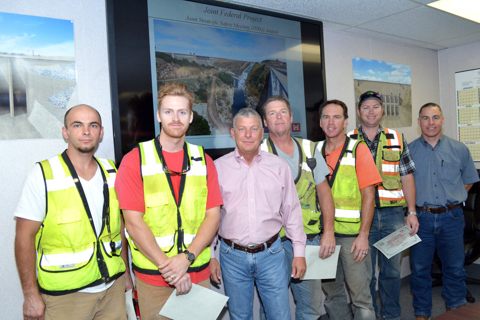 Granite Construction staff recognized for response to July 30 crash at Folsom spillway site