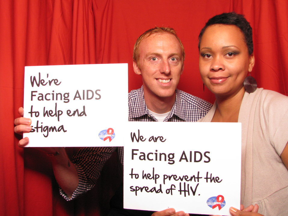 We're FACING AIDS to help end stigma. We are FACING AIDS to help prevent the spread of HIV.