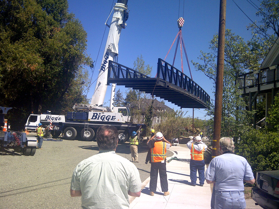 New pedestrian bridge last major phase of Corps' Napa Creek project