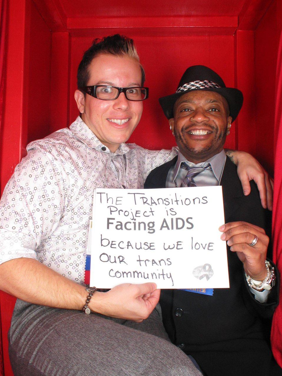 The Transition Project is Facing AIDS  because we love our trans community.