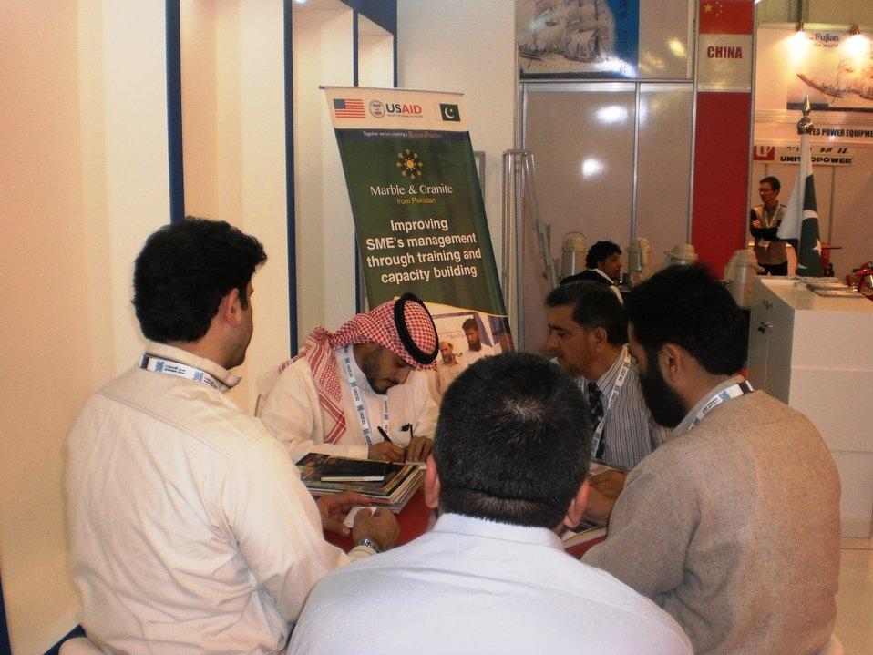 USAID Firms Project Marble and Granite sector participates in the BIG 5, largest construction show of Saudi Arabia