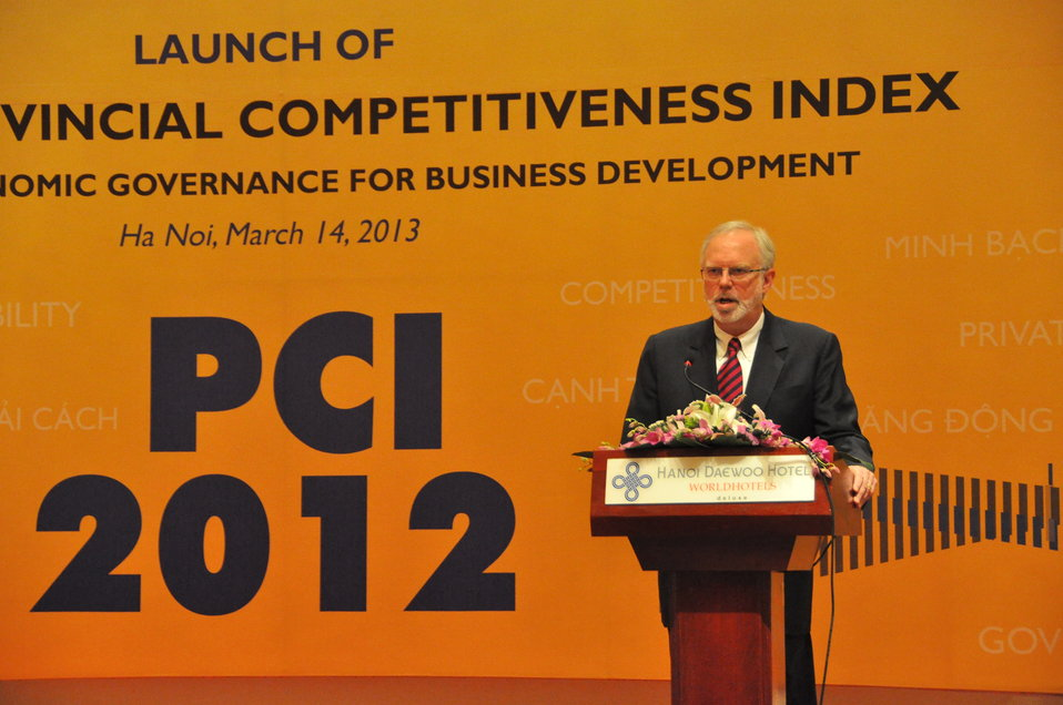 U.S. Ambassador David Shear speaks at the Provincial Competitiveness Index Launch, March 14, 2013