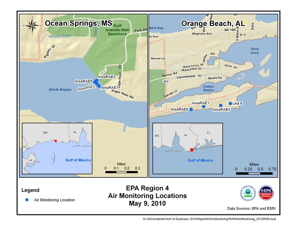 EPA Air Monitoring Locations May 9, 2010