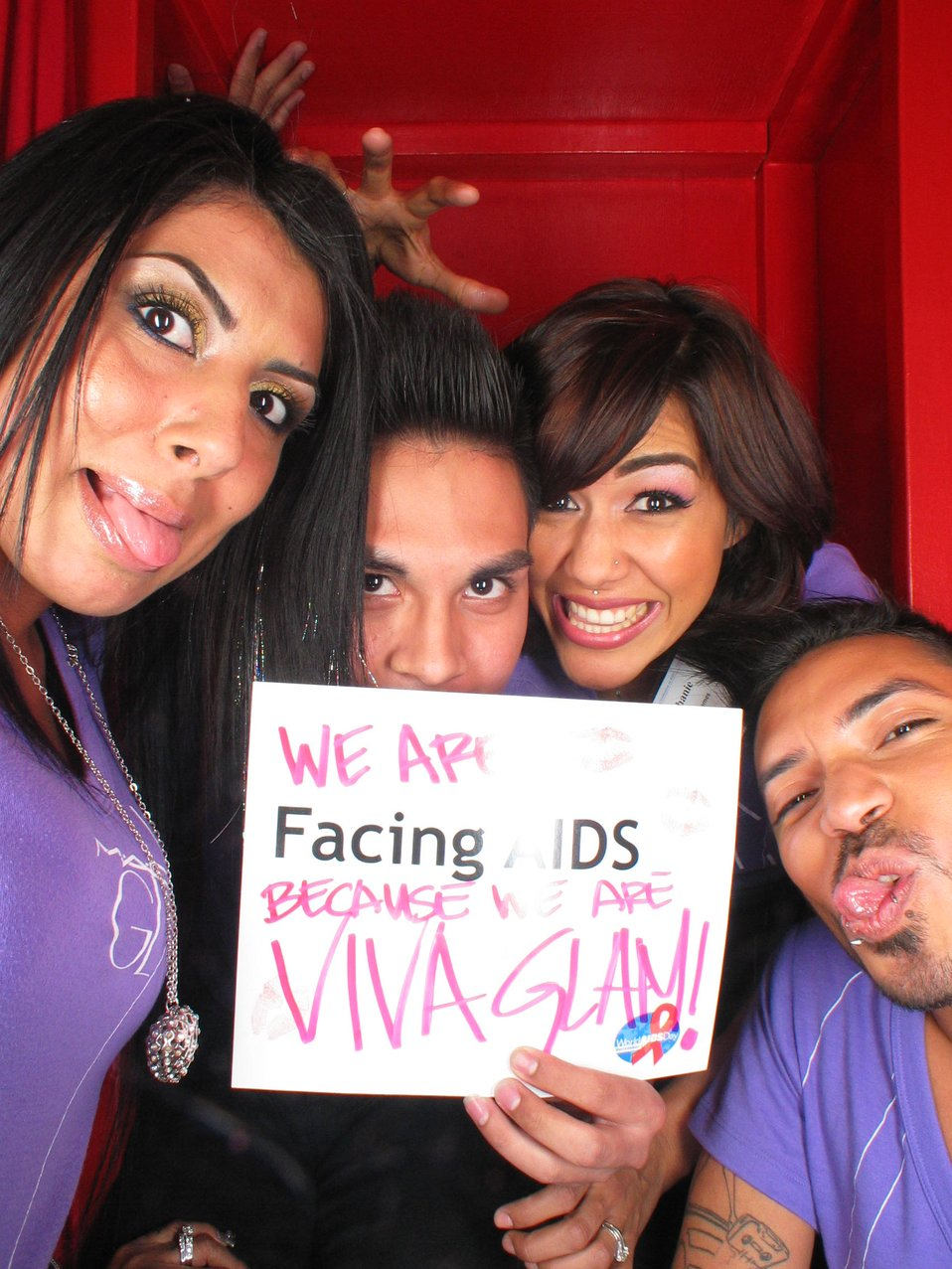 We are Facing AIDS because we are VIVA GLAM!