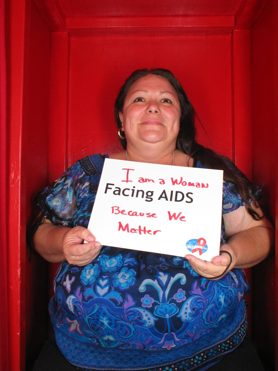 I am a woman Facing AIDS because we matter.