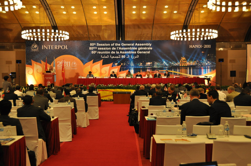 INTERPOL General Assembly in Hanoi, November 2011