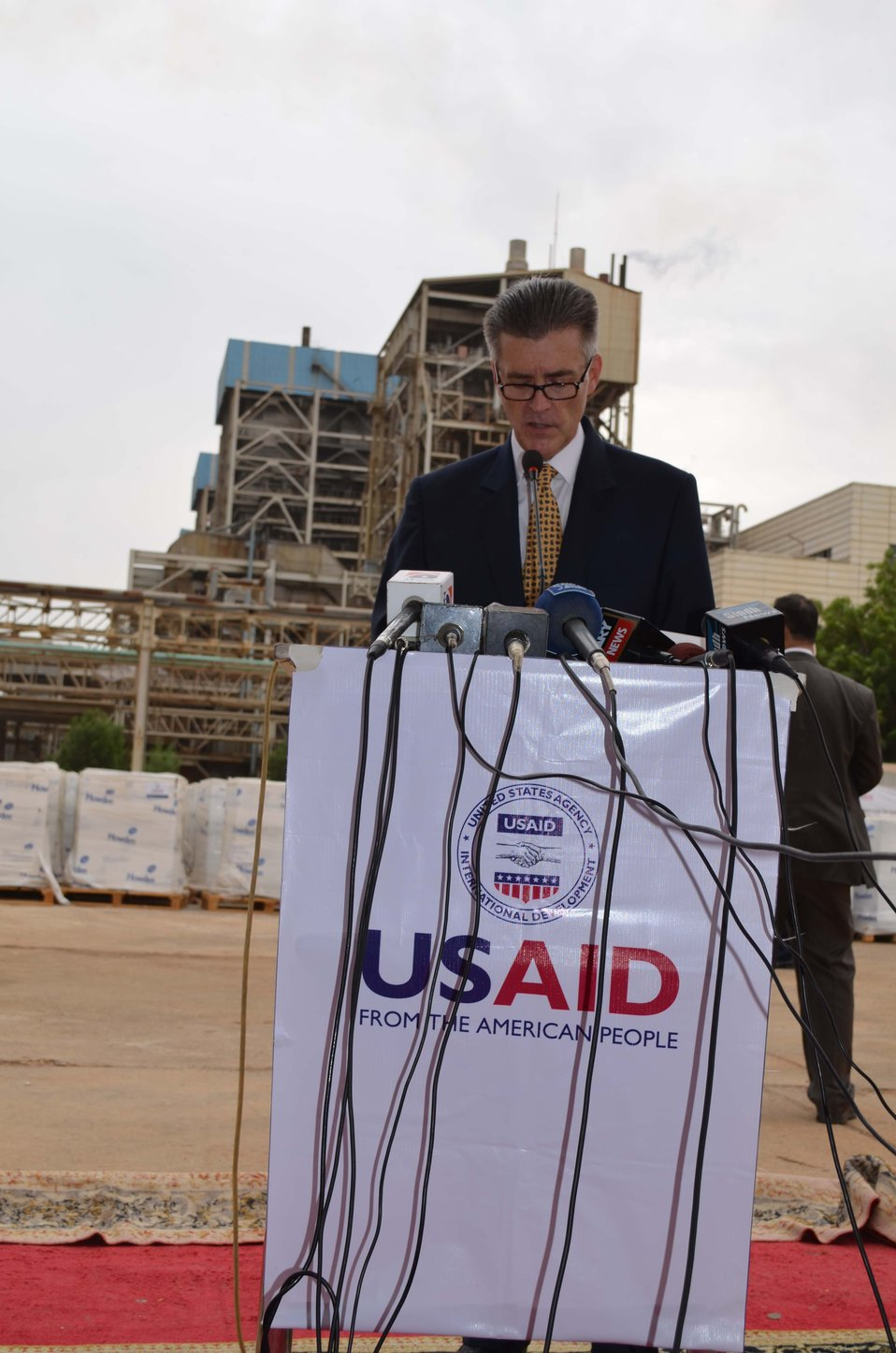 Ambassador Olson giving his remarks at the event