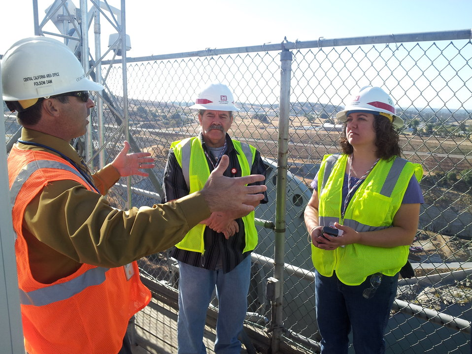 House of Rep. staff member visits Folsom Dam Project