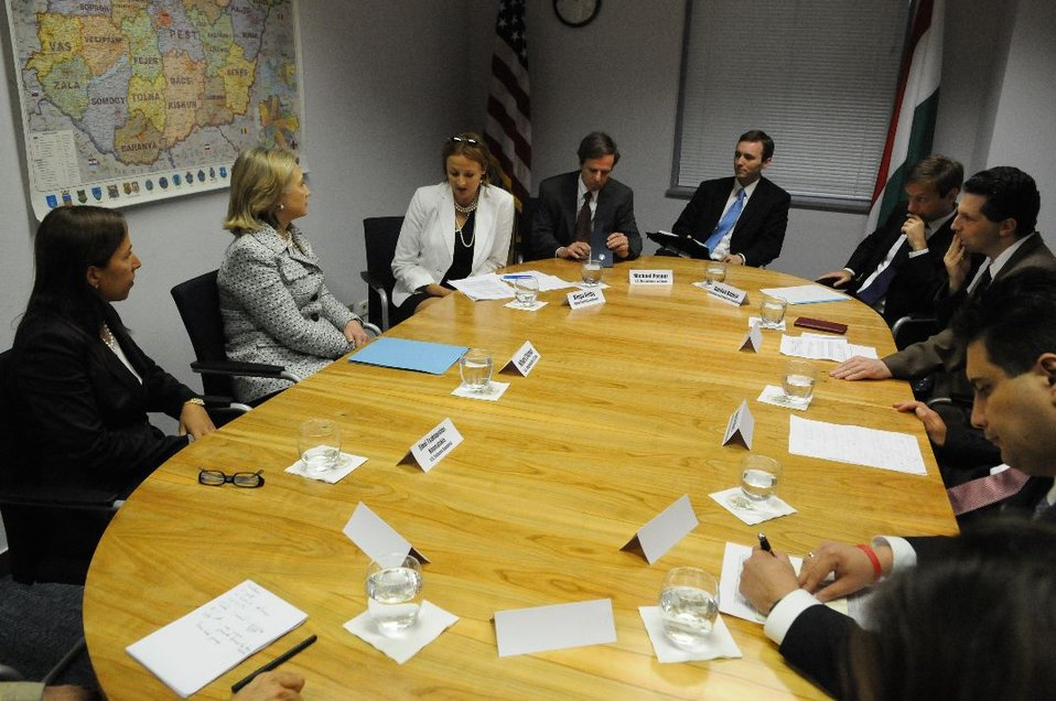 Secretary Clinton Meets With Hungarian Opposition Politicians and Civil Society Leaders