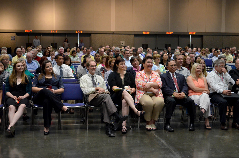 District staff attend town hall meeting