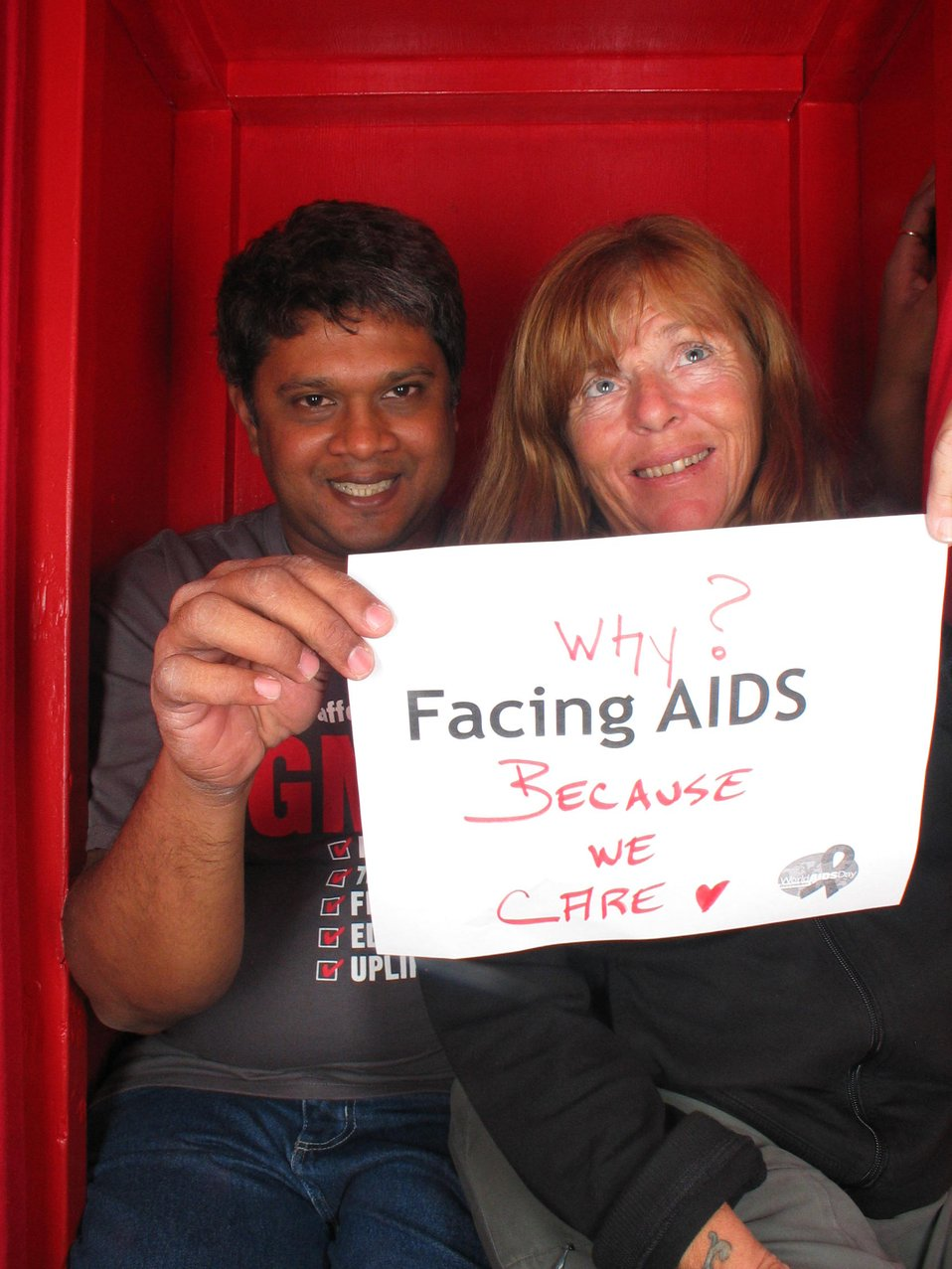 Why? Facing AIDS  Because we care.