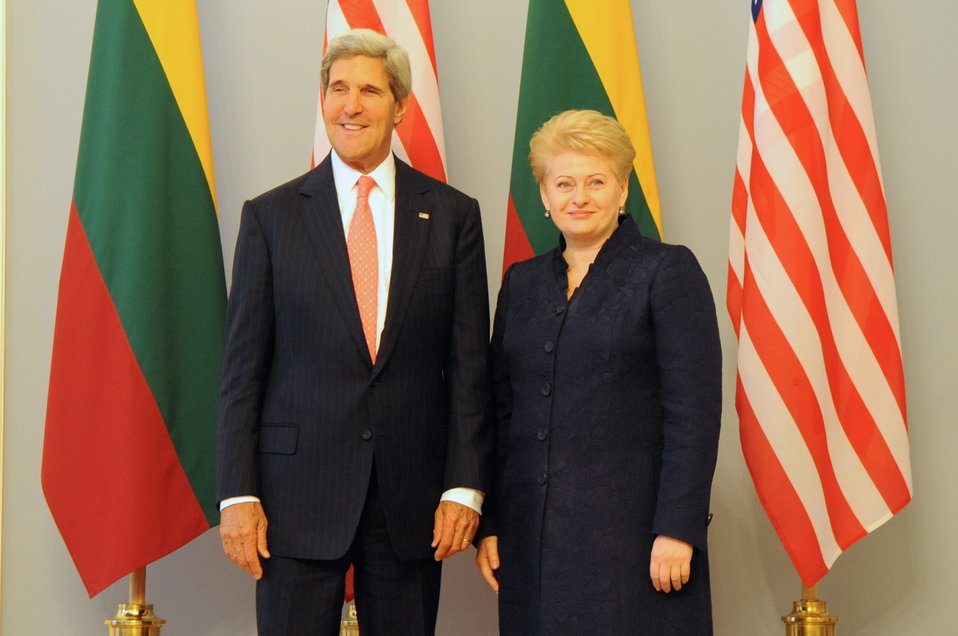 Secretary Kerry Meets With Lithuanian President Dalia Grybauskaitė