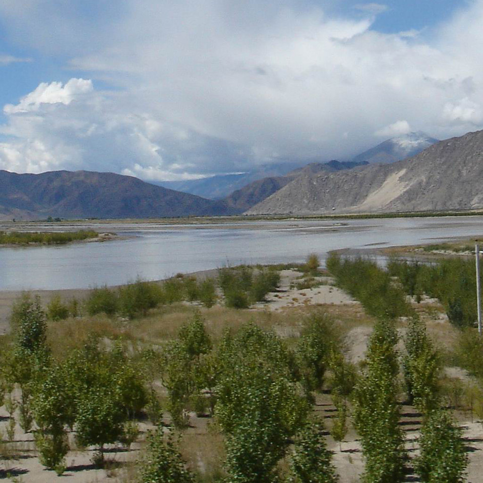 Uploaded by request of Guo Jinlong  Taken near Lasa, the Provincial capital of Tibet  Lasa River is one of the tributaries of Brahmaputr