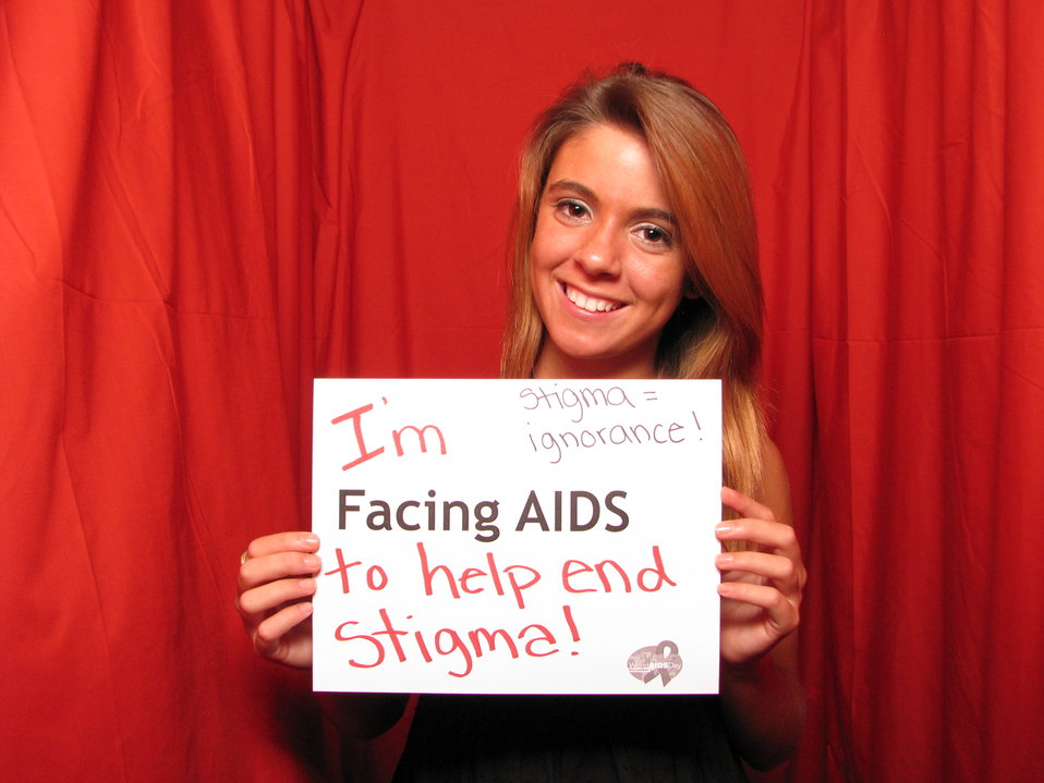I'm FACING AIDS to help end stigma! Stigma= ignorance!