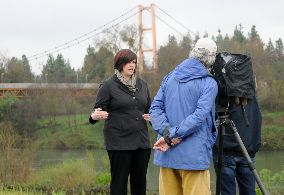 Alicia Kirchner describes Sacramento flood risk for PBS documentary