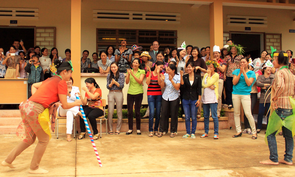 Teachers in Kon Tum practice what they learned from USAID-funded intensive training courses