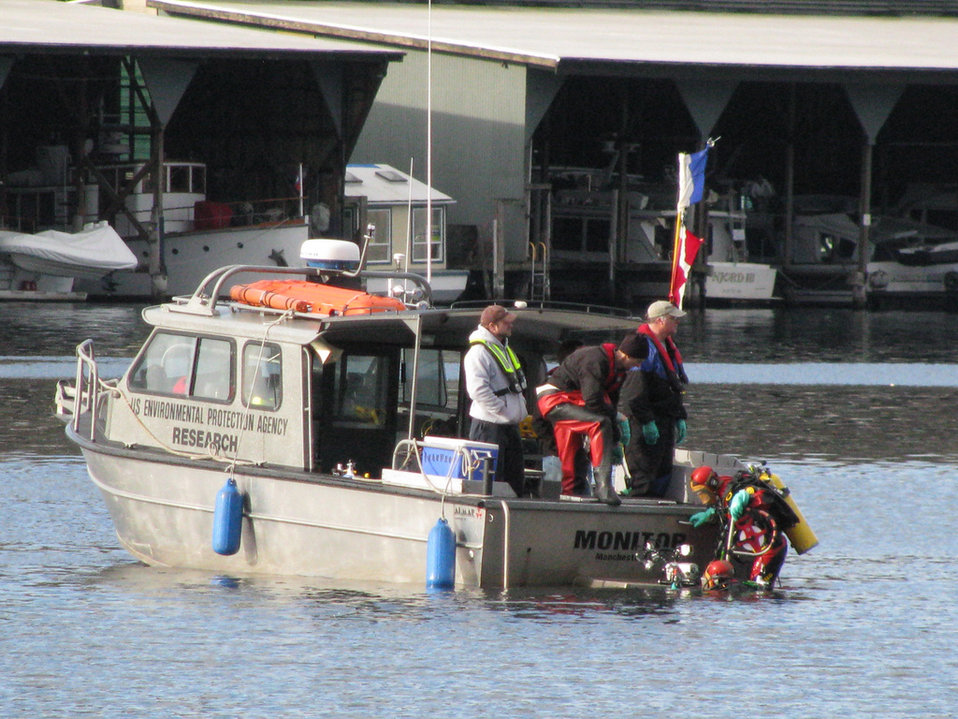 May 2012, EPA divers work from EPA Vessel 'Monitor'