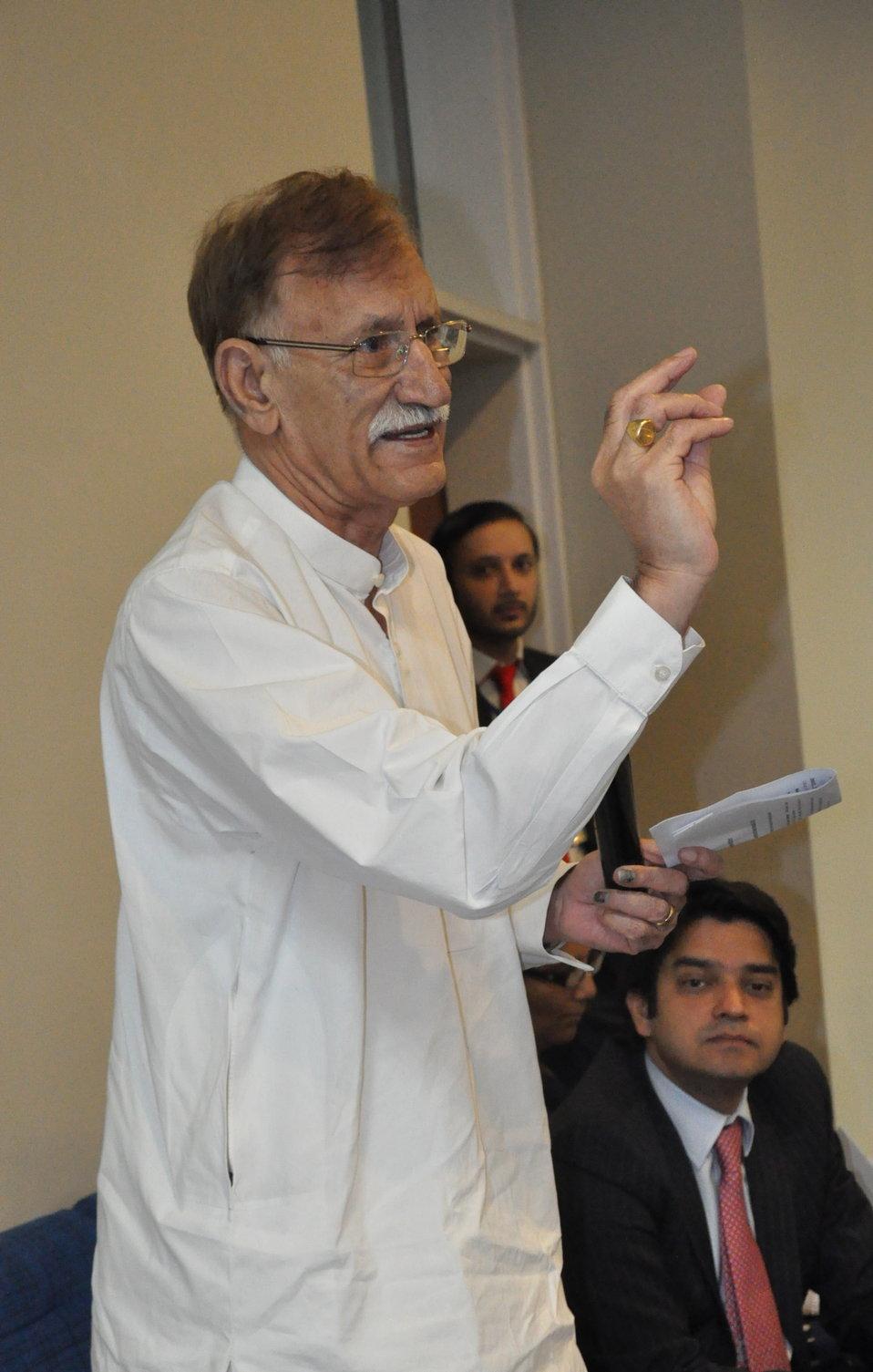 Chairman Punjab Education Foundation Raja Anwar during the QandA session
