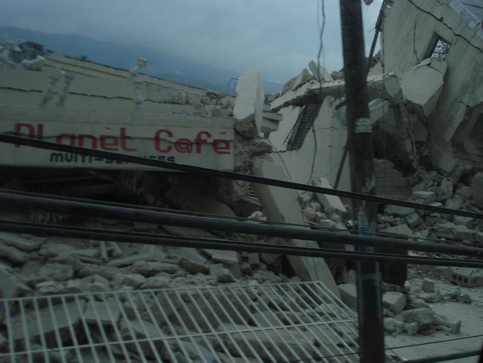 Collapsed 'Planet Cafe' (Haiti Earthquake - 2010)