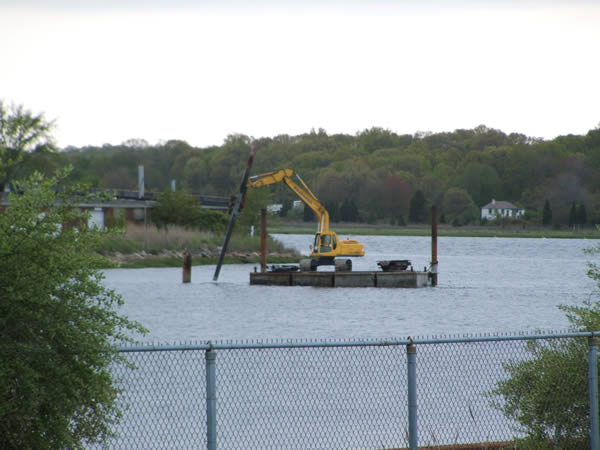 2009, Watching the sheet pile work from the New Bedford shoreline