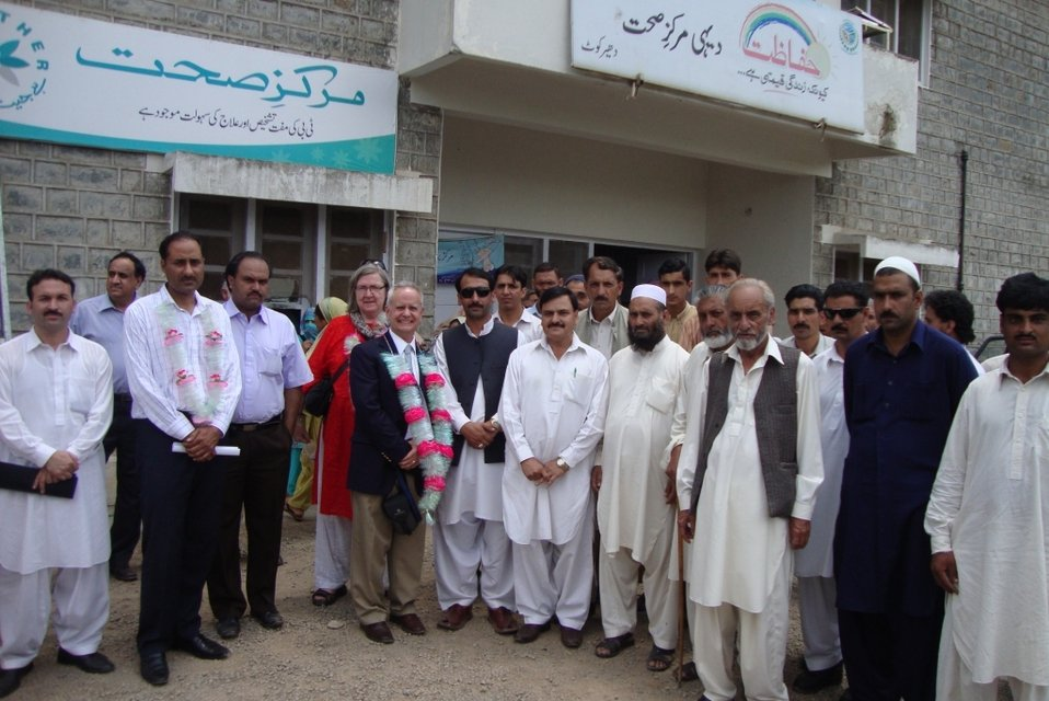 After groundbreaking at Dhirkot Hospital