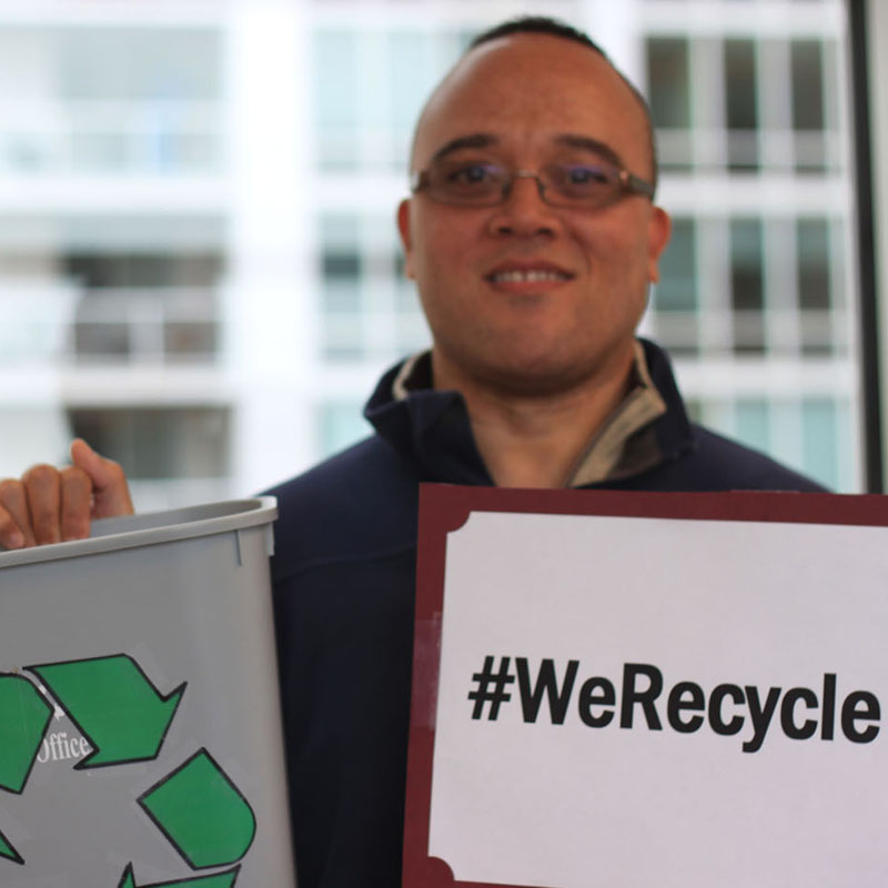 EPA Employee Bryan Recycles
