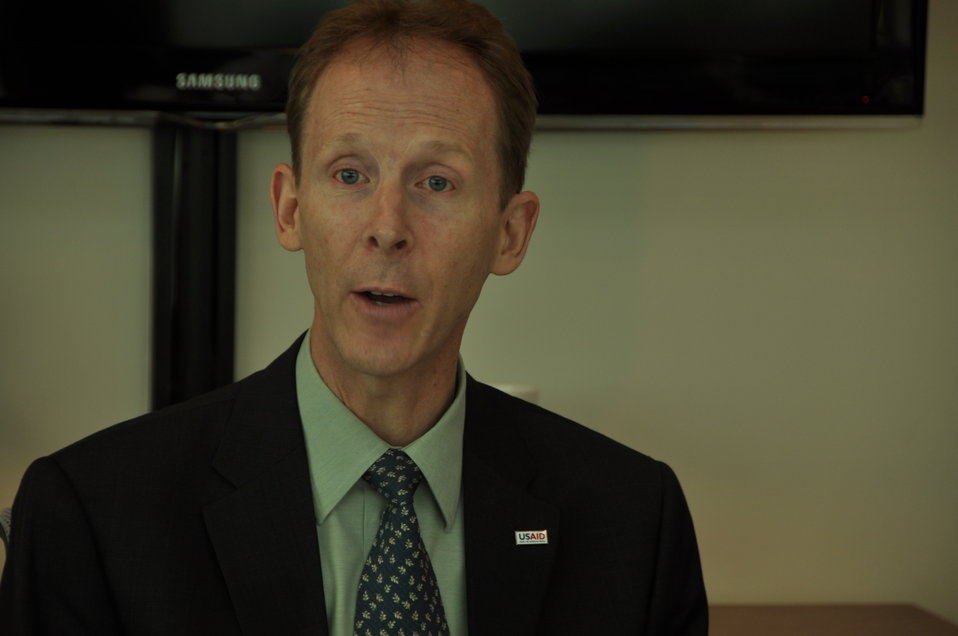 USAID Mission Director Joakim Parker announces climate change awards