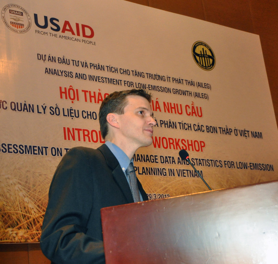 Patrick Smith, USAID/Vietnam Climate Change Advisor