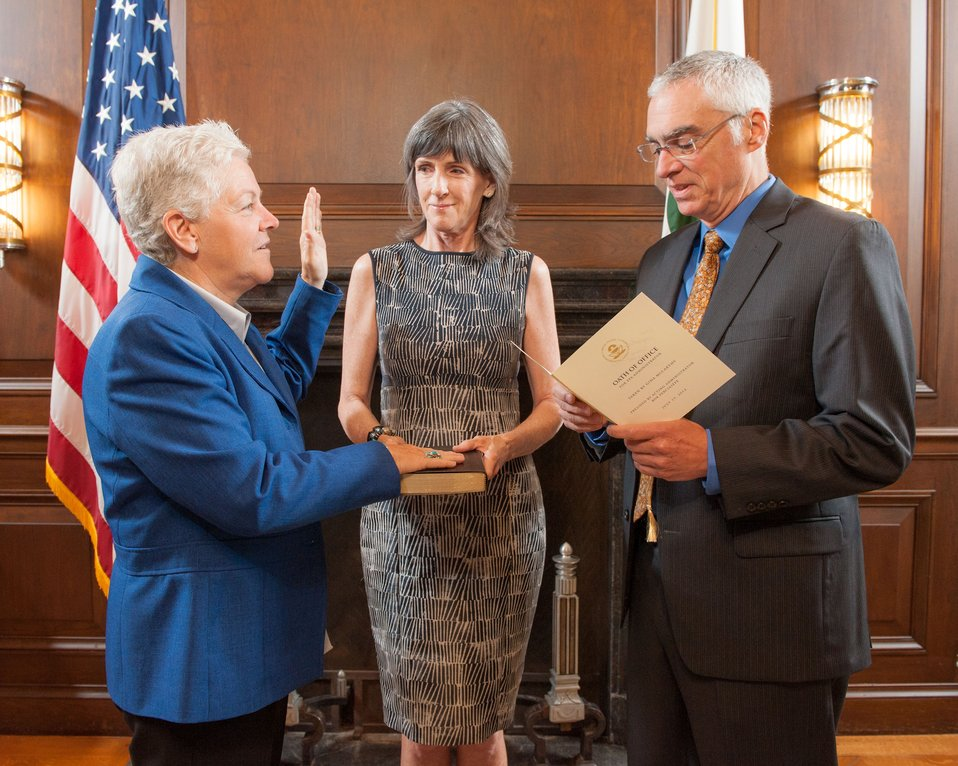 July 19, 2013 – Gina McCarthy sworn in as Administrator of the U.S. Environmental Protection Agency