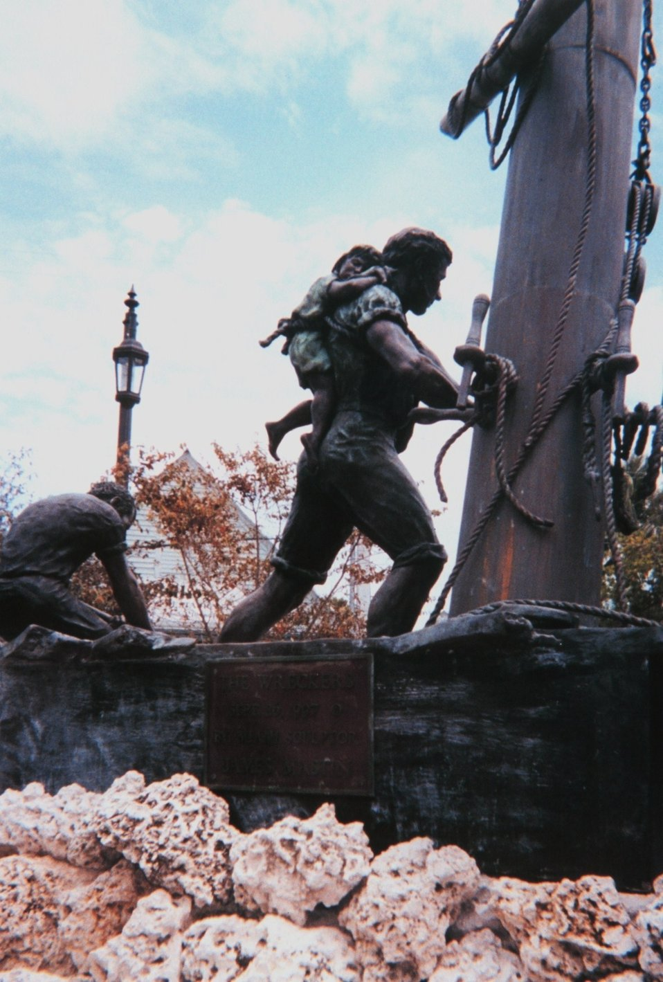 The 'Wrecker Memorial' at Key West.  Wreckers flocked to the scene of shipwrecks  hoping to salvage the cargoes for their own enrichment.  However, their first legal priority was to save lives.