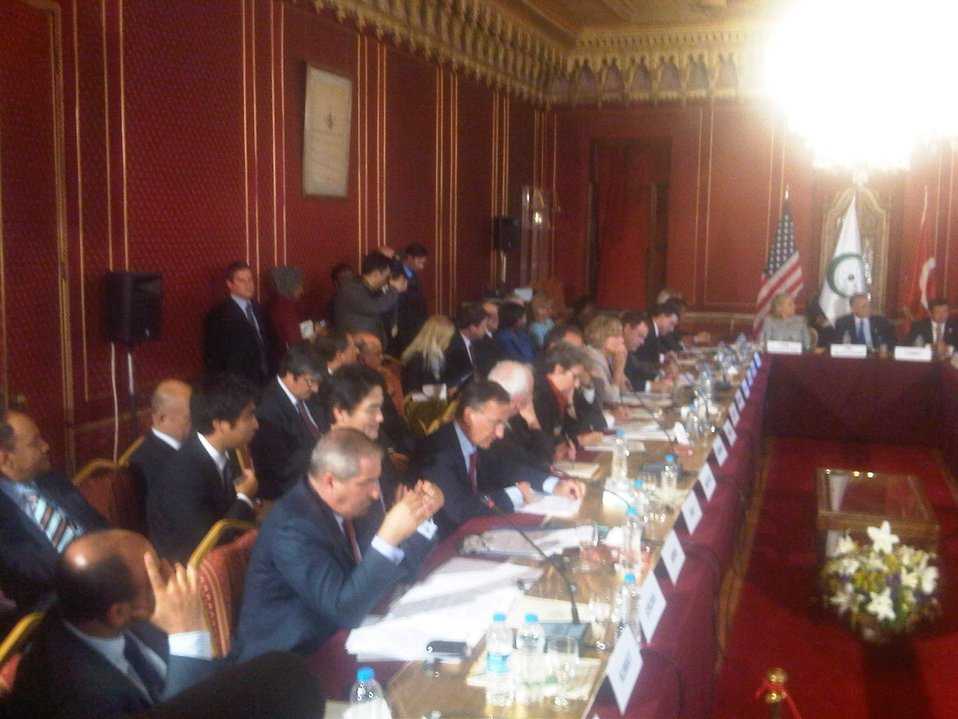 Secretary Clinton Sits With Members of the Organization of the Islamic Conference (OIC)