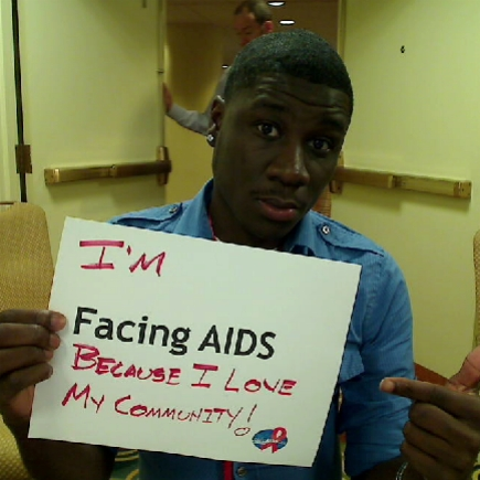 I'm Facing AIDS because I love my community!
