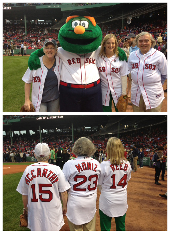 Administrator McCarthy, Department of Energy Secretary Moniz, and National Grid Massachusetts President Reed at Fenway Park