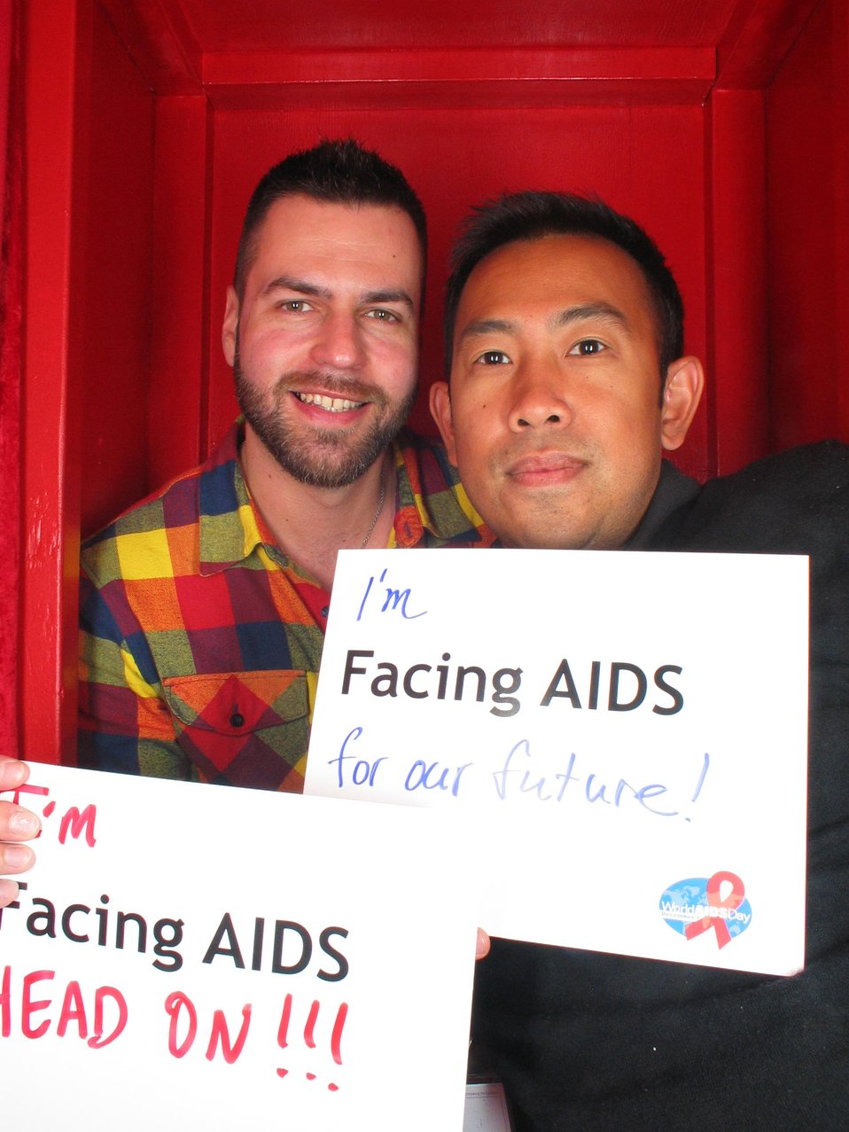 I'm Facing AIDS for our future! I'm Facing AIDS head on!!!