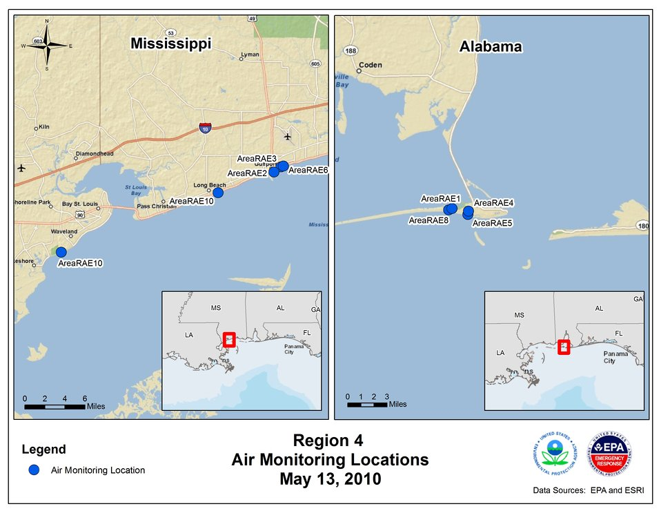 EPA Air Monitoring Locations May 13, 2010