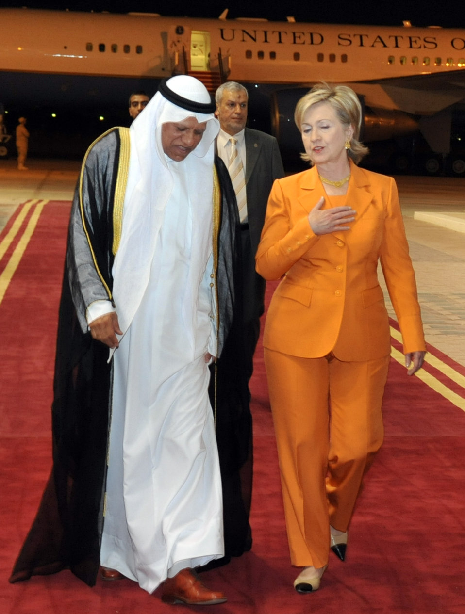 Secretary Clinton Arrives in Kuwait